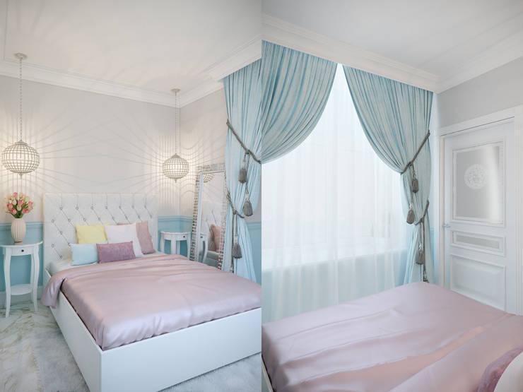 Квартира в мансарде на Петроградской стороне: Спальни в . Автор – Студия дизайна интерьера Маши Марченко