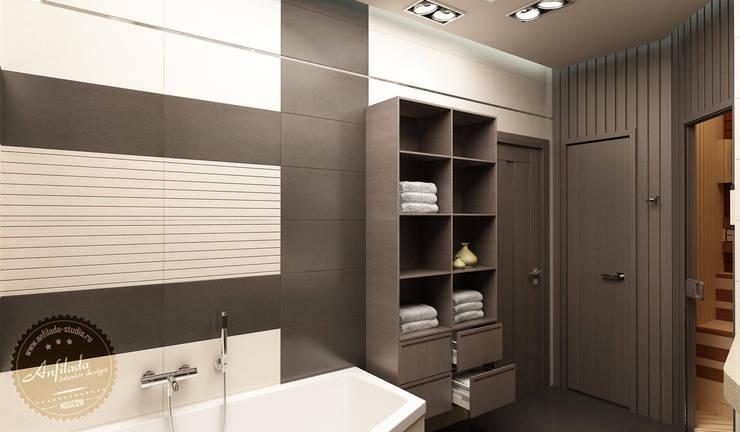 Ванная комната с сауной: Ванные комнаты в . Автор – Anfilada Interior Design, Минимализм