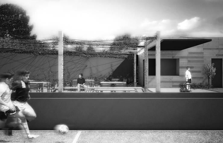 DEPORTIVO TEPEPAN: Estadios de estilo  por gOO Arquitectos
