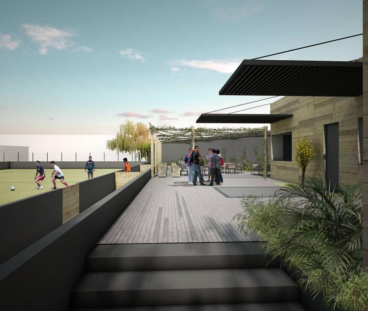 DEPORTIVO TEPEPAN: Escuelas de estilo  por gOO Arquitectos