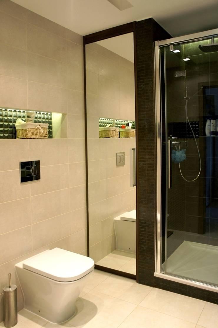 wielka płyta Płock – kuchnia i łazienka: styl , w kategorii Łazienka zaprojektowany przez abostudio