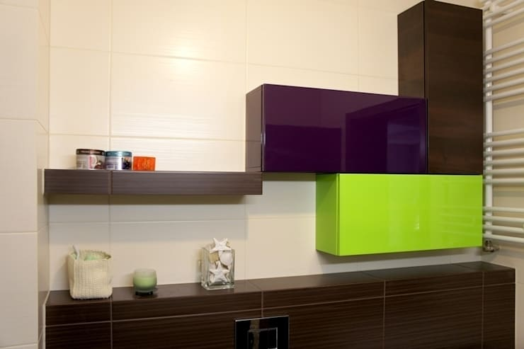 apartament Kościelna Poznań: styl , w kategorii Łazienka zaprojektowany przez abostudio