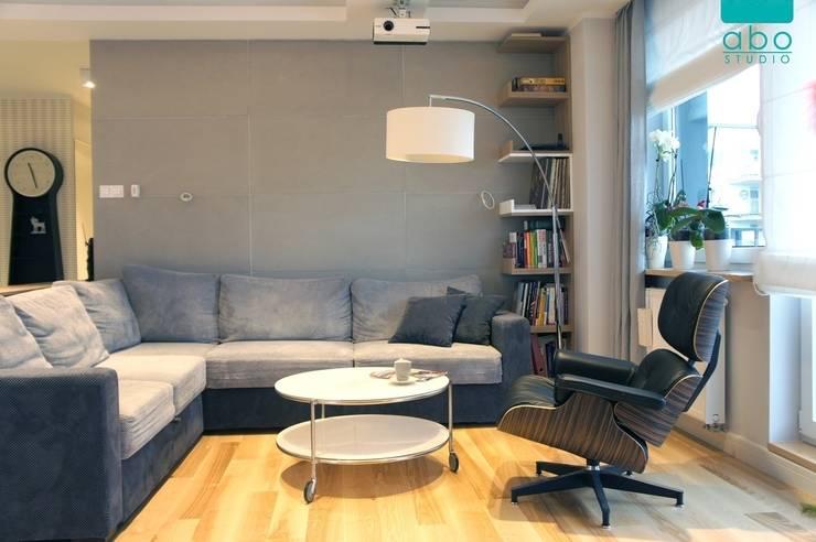 apartament Płock: styl , w kategorii Salon zaprojektowany przez abostudio