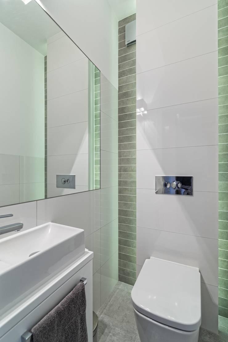 MIESZKANIE 72 M2: styl , w kategorii Łazienka zaprojektowany przez KRAMKOWSKA|PRACOWNIA WNĘTRZ