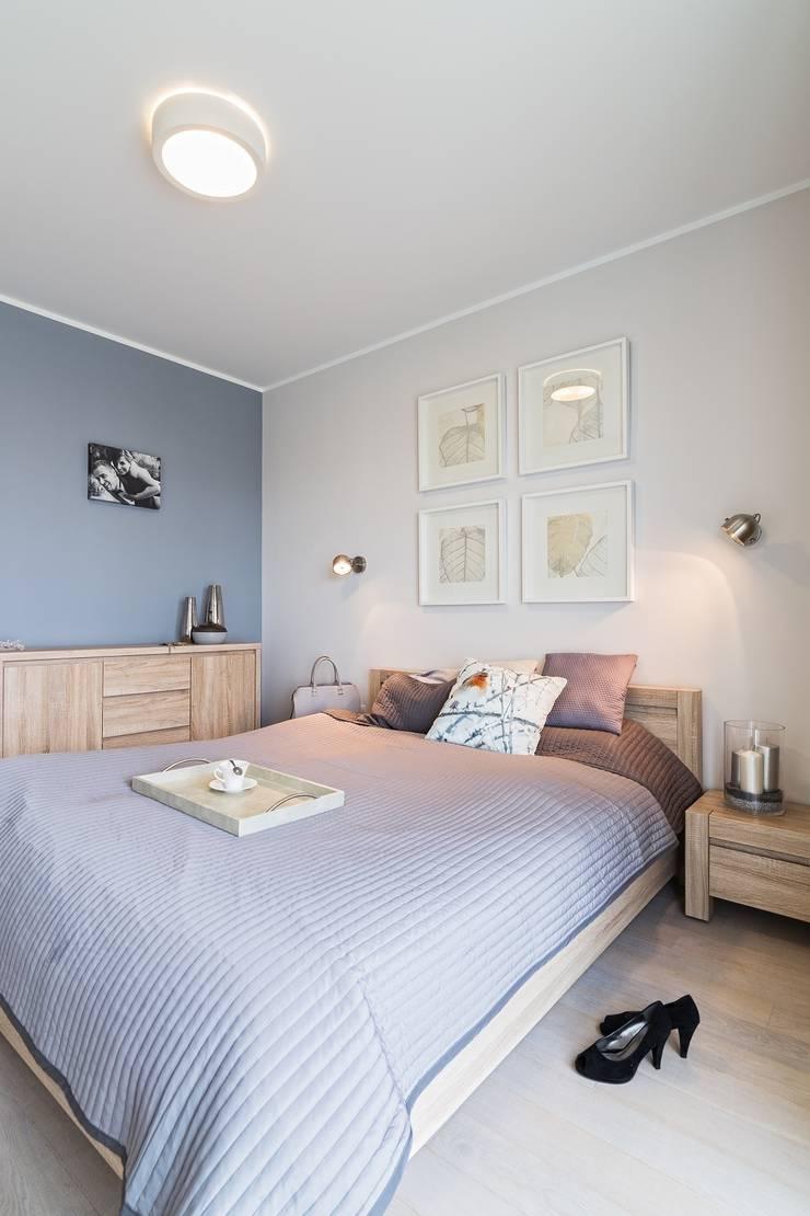 MIESZKANIE 72 M2: styl , w kategorii Sypialnia zaprojektowany przez KRAMKOWSKA|PRACOWNIA WNĘTRZ
