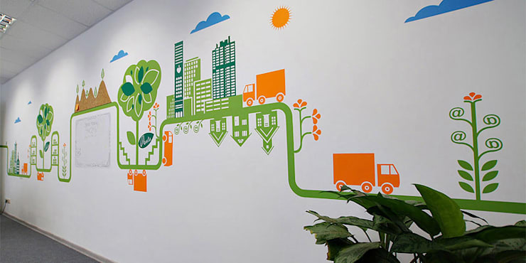 Оформление офиса компании «Аванта»: Офисные помещения в . Автор – 33dodo