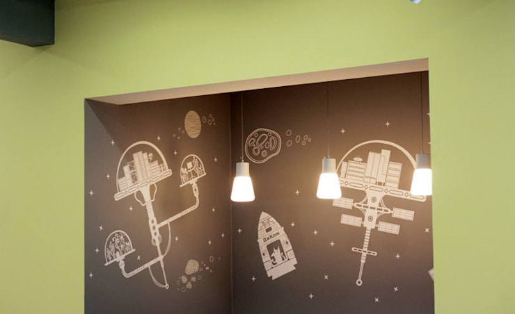 Оформление стен офиса фирмы <q>ДИКОМ</q>: Офисы и магазины в . Автор – 33dodo