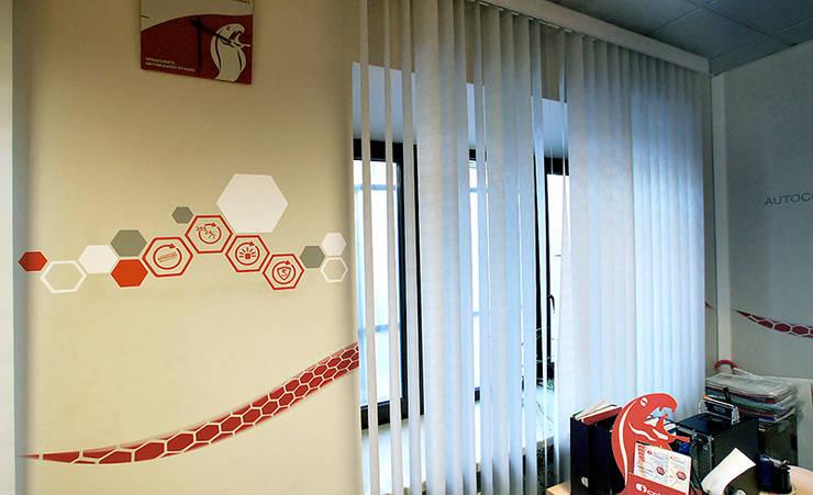 Декор стен офиса АВТОКОННЕКС: Офисные помещения в . Автор – 33dodo