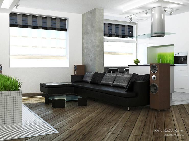Проект в Москве на Беговой: Гостиная в . Автор – Best Home, Минимализм