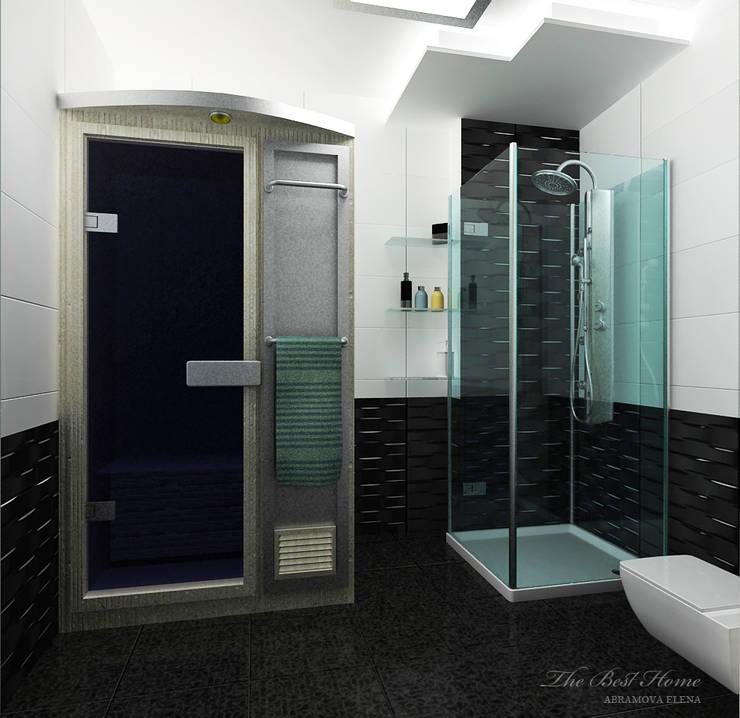 Проект в Москве на Беговой: Ванные комнаты в . Автор – Best Home, Минимализм