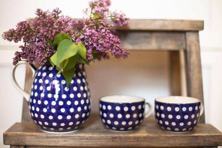 Ceramika Bolesławiec : styl , w kategorii Jadalnia zaprojektowany przez Folkstar