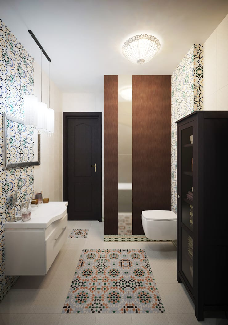 Частный дом: Ванные комнаты в . Автор – Art Group 'Tanni'
