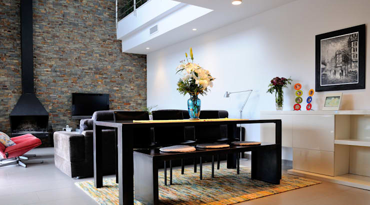 Diseño de interiores de vivienda: salón: Salones de estilo  de LaMarta interiorismo