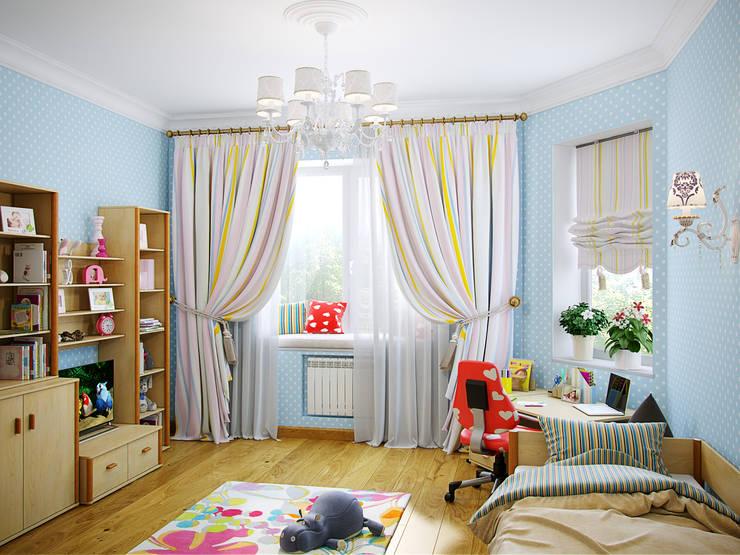 غرفة الاطفال تنفيذ Студия дизайна интерьера Маши Марченко