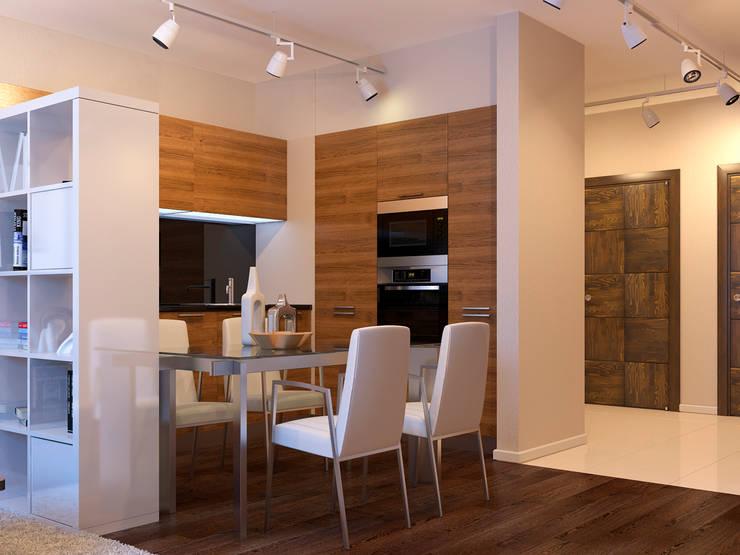 Квартира в скандинавском стиле в Перми: Кухни в . Автор – Студия дизайна интерьера Маши Марченко