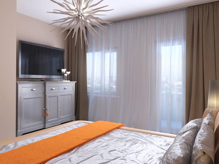 Квартира в скандинавском стиле в Перми: Спальни в . Автор – Студия дизайна интерьера Маши Марченко,