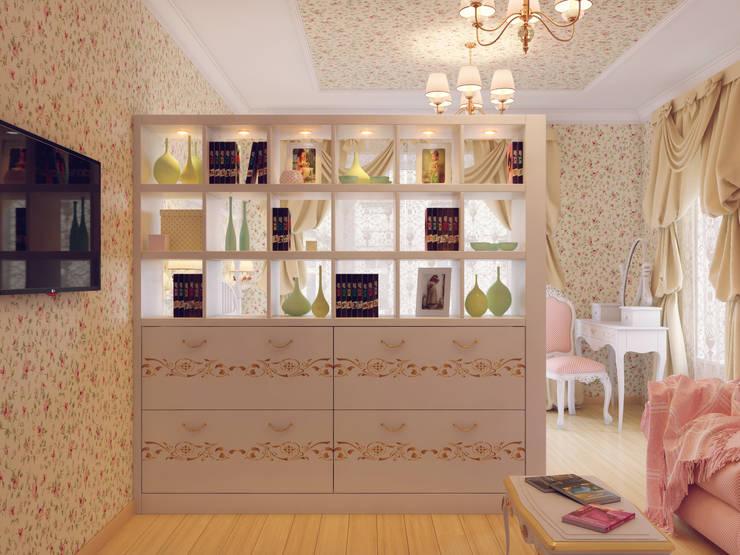 Студия дизайна интерьера Маши Марченкоが手掛けたリビング