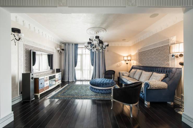 Гармония стилей: Гостиная в . Автор – Premier Dekor