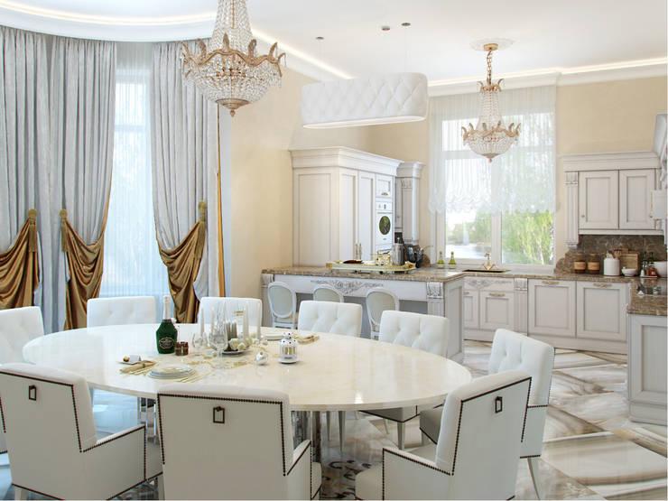Дом в поселке Вирки: Кухни в . Автор – Студия дизайна интерьера Маши Марченко