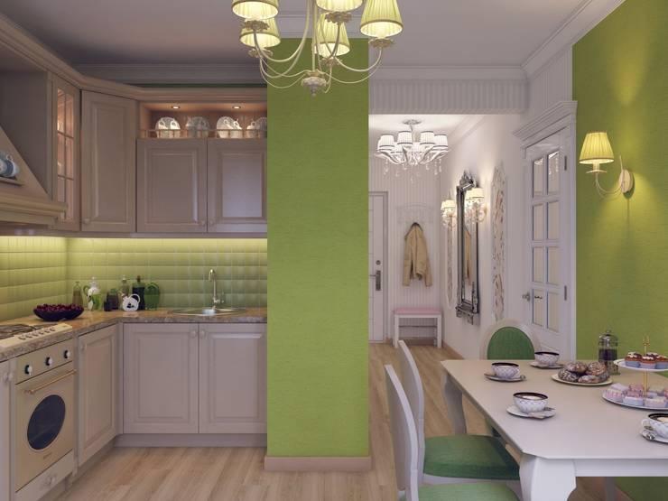 Квартира для девушки в ЖК <q>Аврора</q>: Кухни в . Автор – Студия дизайна интерьера Маши Марченко