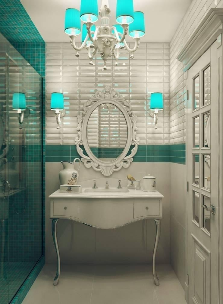 Квартира для девушки в ЖК <q>Аврора</q>: Ванные комнаты в . Автор – Студия дизайна интерьера Маши Марченко