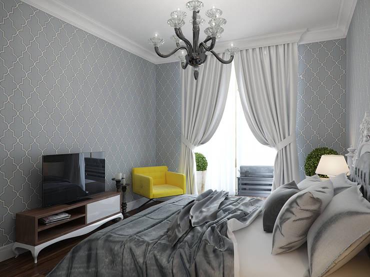 Projekty,  Sypialnia zaprojektowane przez Студия дизайна интерьера Маши Марченко