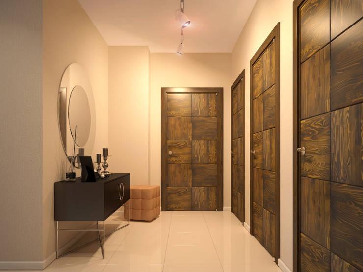 Квартира в скандинавском стиле в Перми: Коридор и прихожая в . Автор – Студия дизайна интерьера Маши Марченко