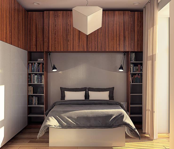 дизайн квартиры 35м2 г. Москва: Спальни в . Автор – sreda,