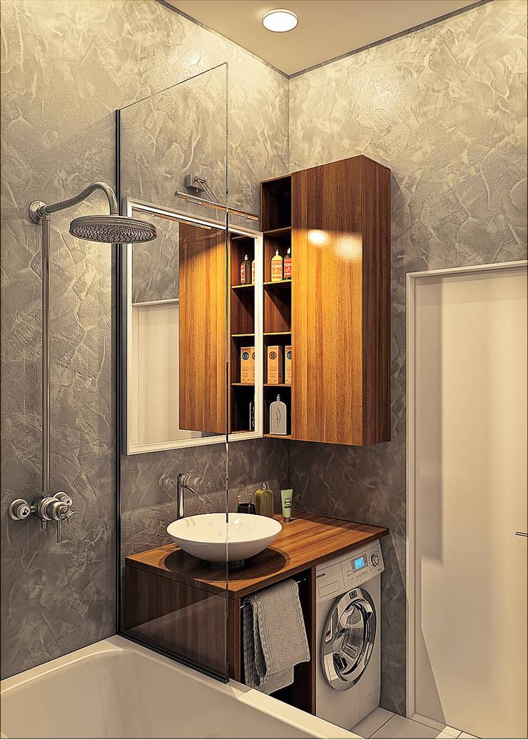 дизайн квартиры 35м2 г. Москва: Ванные комнаты в . Автор – sreda,
