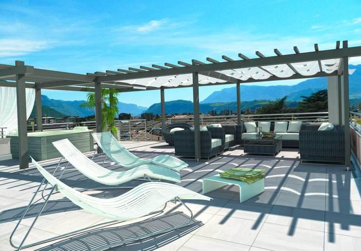 Vista lastrico solare: Terrazza in stile  di Grendene Design