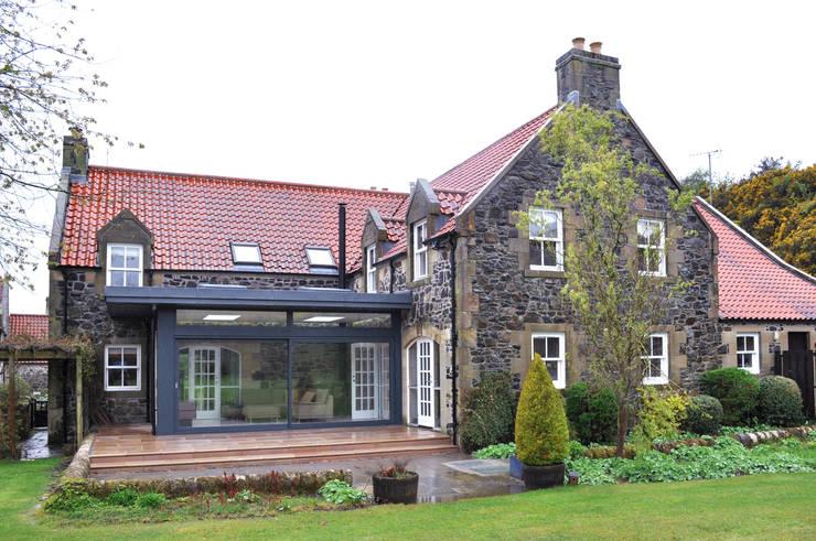 Linlithgow Extension 10 Salas de estilo minimalista de George Buchanan Architects Minimalista
