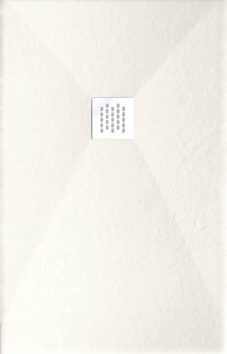 Plato de ducha Piedra - Blanco: Baños de estilo  de BATH
