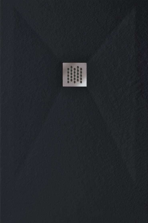 Plato de ducha Piedra - Negro: Baños de estilo  de BATH