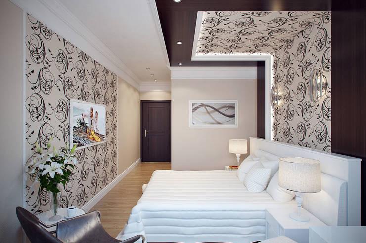 Балтийская Жемчужина: Спальни в . Автор – Студия интерьера 'SENSE', Эклектичный