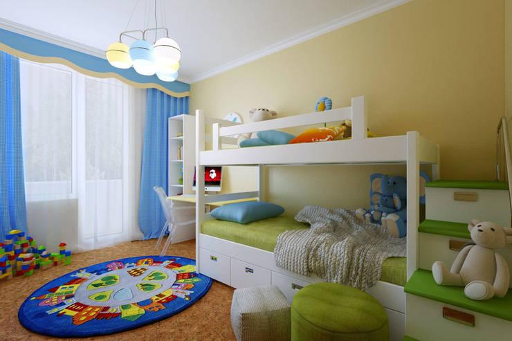 Балтийская Жемчужина: Детские комнаты в . Автор – Студия интерьера 'SENSE', Эклектичный
