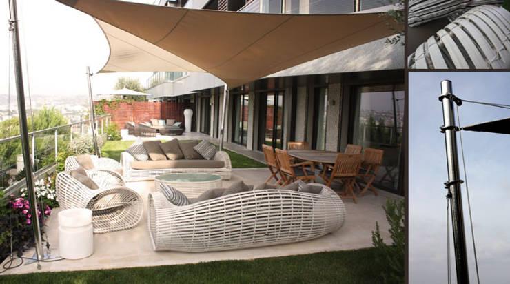 Voyage autour du monde : Jardin de style de style Méditerranéen par Valerie Barth Interior Designer
