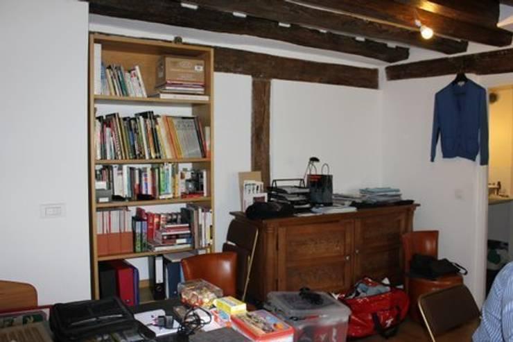 Appartement Pastourelle - Salon avant projet: Salon de style  par * aurelie.rubin-chabrier . architecture . architecture intérieure .