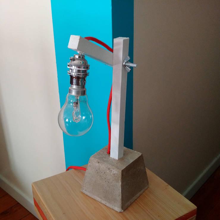 Design Lampe Bois Beton By Atelier Am Homify