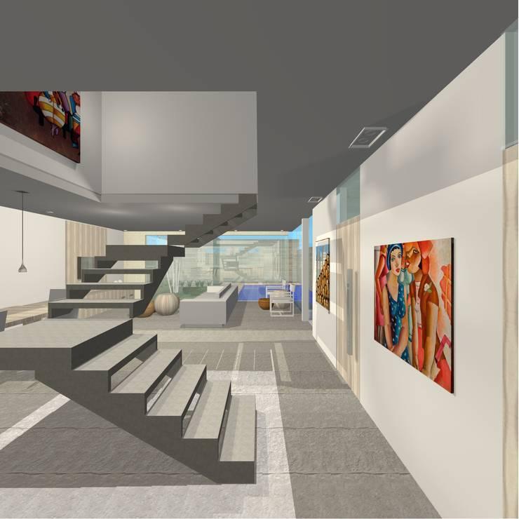 Projeto Casa: Corredores e halls de entrada  por Studio Bonazza