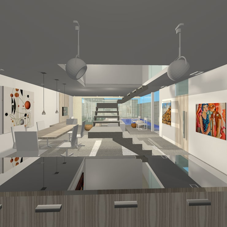 Projeto Casa: Salas de jantar  por Studio Bonazza
