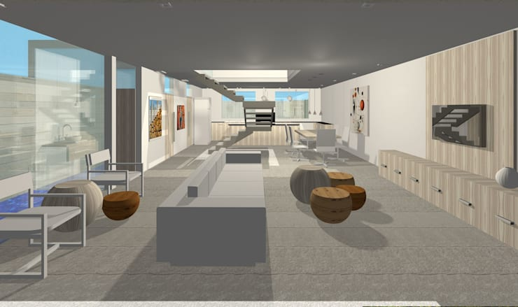 Projeto Casa: Salas de estar  por Studio Bonazza