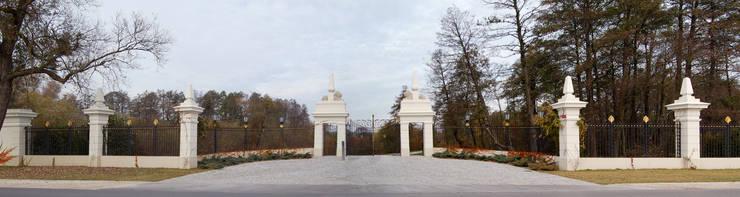 Brama kuta - wzór G267 ALMET.com.pl: styl , w kategorii Ogród zaprojektowany przez ALMET Kowalstwo Artystyczne