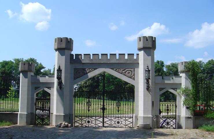 Brama wjazdowa kuta - wzór G108 ALMET.com.pl: styl , w kategorii Ogród zaprojektowany przez ALMET Kowalstwo Artystyczne