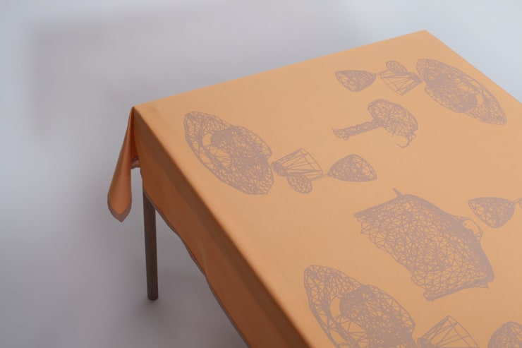Tablecloth Night Table - Orange:   door Caro Heuts, Scandinavisch