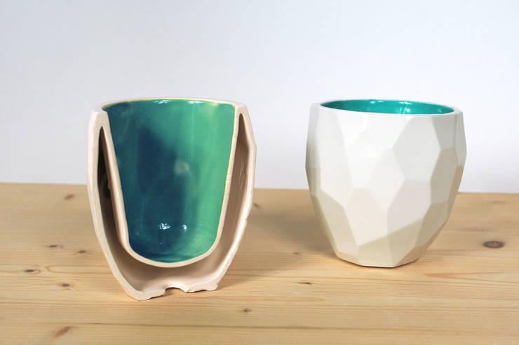 Poligon servies: rustieke & brocante Eetkamer door Studio Lorier