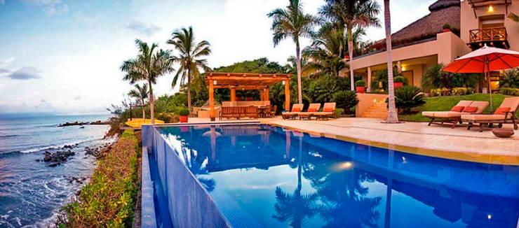 Villa Farallón 14: Albercas de estilo  por BR  ARQUITECTOS