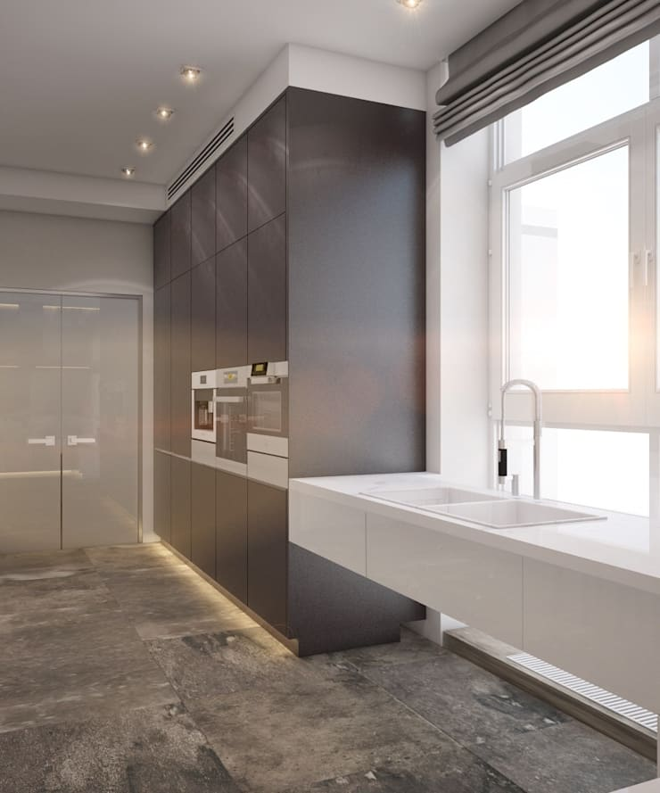 Apartment in Ekaterinburg: Кухни в . Автор – E_interior