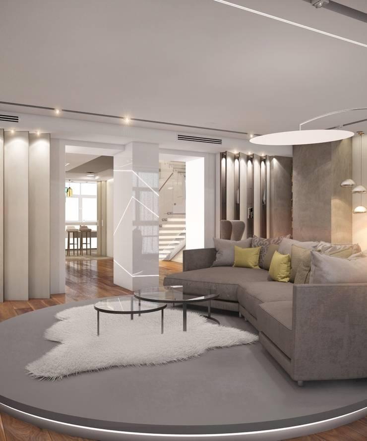 Apartment in Ekaterinburg: Гостиная в . Автор – E_interior