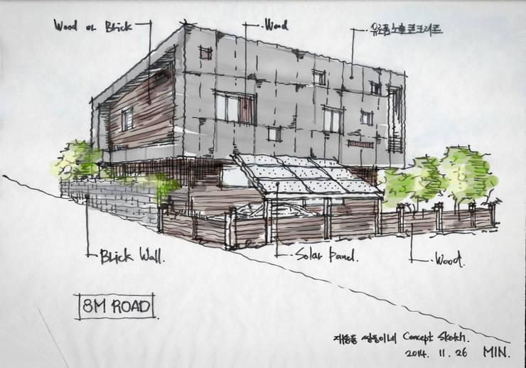 해운대 쌍둥이네 단독주택: 민 아키텍츠 건축사사무소의