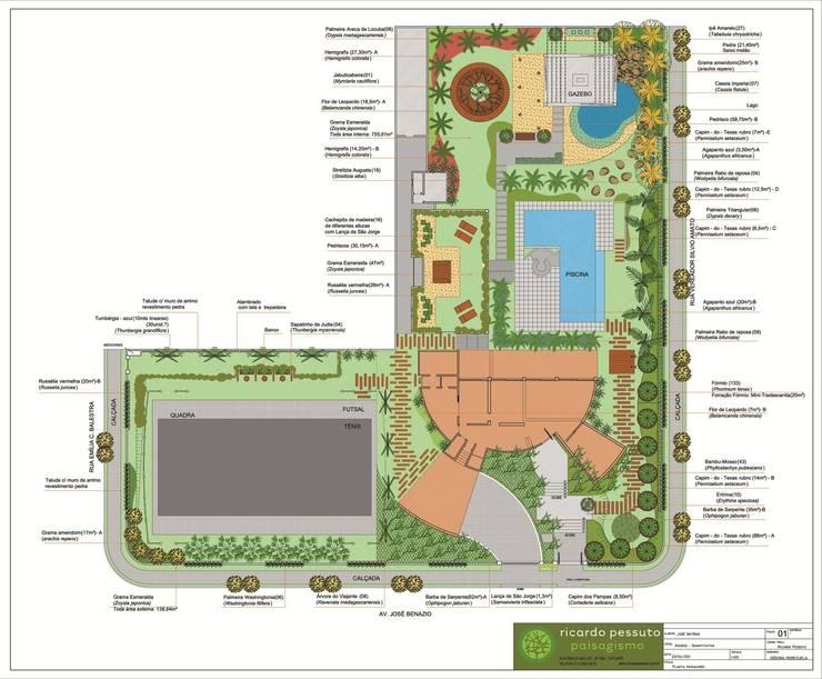Jardim Tropical: Jardins  por ricardo pessuto paisagismo